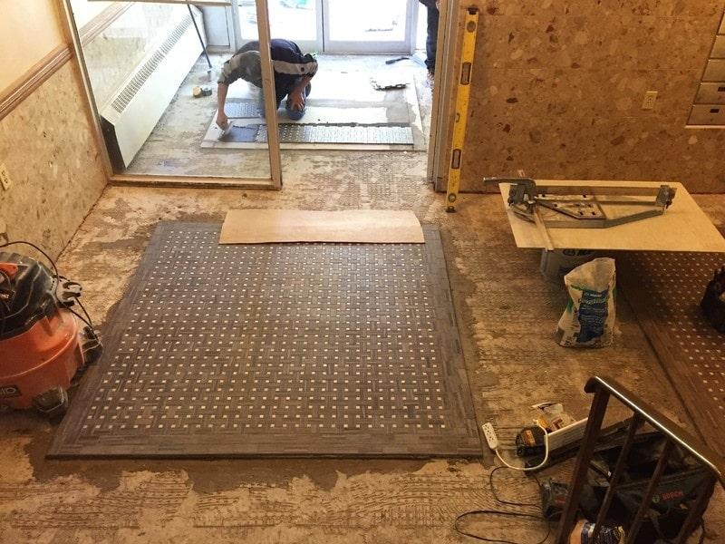 Mosaic carpet inlays,Toronto,Ontario